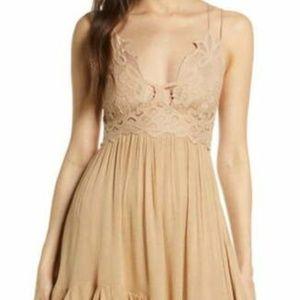 Free People FP One Adella Slip Nude Mini Dress XS